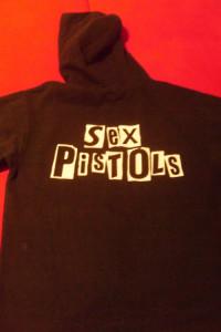 Bluza z Sidem Sex Pistols czarna z kapturem L XL