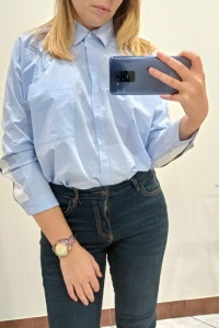 Koszula błękitna Zara M