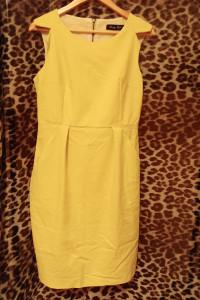 Limonkowa sukienka kieszenie L40...