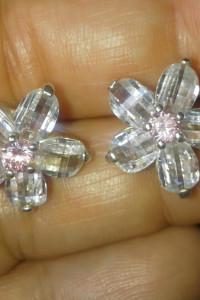 Kolczyki kwiatki Srebro 925