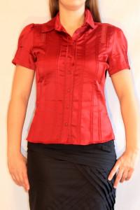 Czerwona koszula w krótkim rękawem Reserved 36 S...