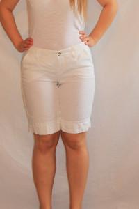 Białe płócienne krótkie spodnie 36 S MAC