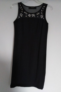 Reserved 38 M sukienka mała czarna mini dopasowana super materi...