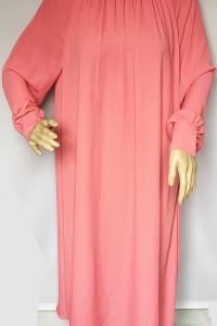 Sukienka Maxi Różowa H&M Lond Długa L 40 Róż Oversize...