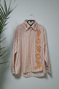 Pomarańczowa koszula w paski...
