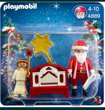 Zabawki Mikołaj z grajacą katarynka Playmobil
