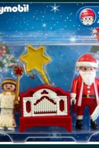Mikołaj z grajacą katarynka Playmobil