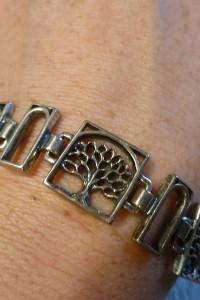 bransoleta nowa srebro drzewka...