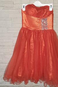 Sukienka Tiulowa Z Cyrkoniami