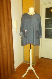 modna tunika z szalem 50