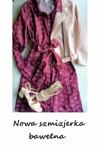 Nowa sukienka szmizjerka bawełniana midi rozkloszowana L XL...