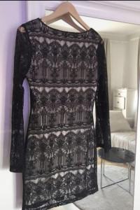 Sukienka koronkowa koktajlowa Cubus s...