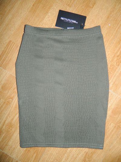 Spódnice pretty little thing dopasowana spódnica khaki roz 34