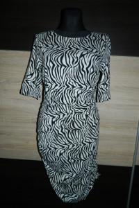 Vila dopasowana sukienka zebra roz L...