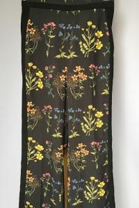 Spodnie Rozszerzane Nogawki H&M Kwiaty S 36 Dzwony Lampasy...