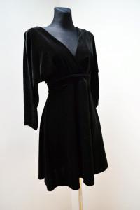 Sukienka gotycka welurowa czarna goth gotic odkryte plecy IVY s M