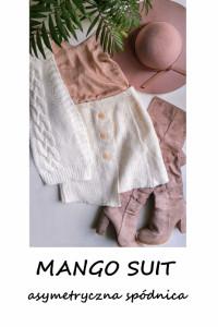 Kremowa asymetryczna spódniczka Mango Suit...