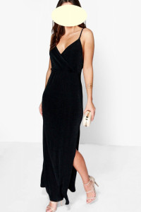 Boohoo długa elegancka sukienka roz 36...