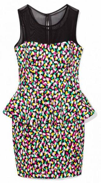Suknie i sukienki MOHITO kolorowa sukienka baskinka roz 36