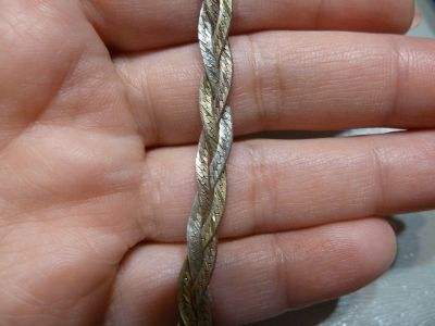 Bransoletki bransoletka warkocz srebro