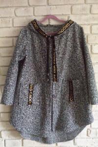 Włoski melanżowy płaszcz 42 44 46