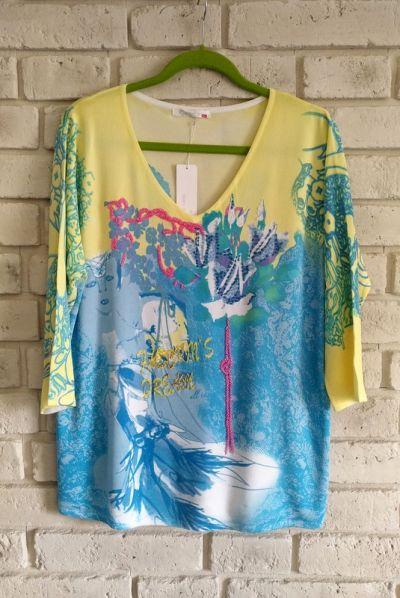 Bluzki Świetna zdobiona bluzka 42 44 46