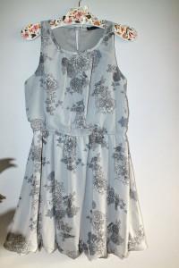Szara sukienka w kwiaty r 40 42...