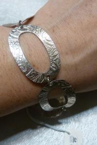 nowa srebrna owale duże