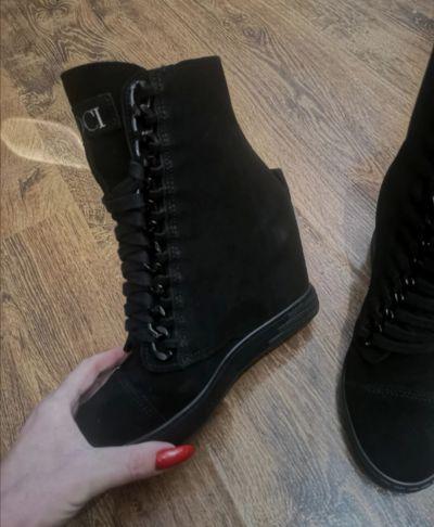 Botki Booci skórzane sneakersy skóra naturalna zamsz