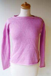 Sweter Różowy Ralph Lauren Krótki S 36 Cukierkowy