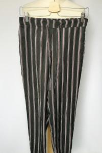 Spodnie Pasy S 36 Czarne Eleganckie Marynarskie Mango...