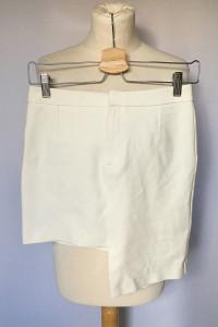 Spódniczka Biała Asymetryczna H&M S 36 Mini Ołówkowa...