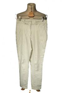 Spodnie Białe Paski Paseczki H&M S 36 Eleganckie Wizytowe...