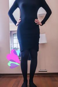 Czarna sukienka z dzianiny rozmiar M...