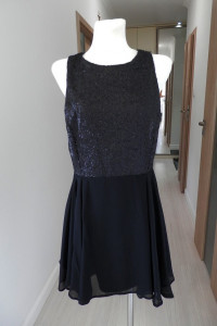 Sukienka Atmosphere Czarna Rozkloszowana Cekiny Wieczorowa Balowa Imprezowa XL