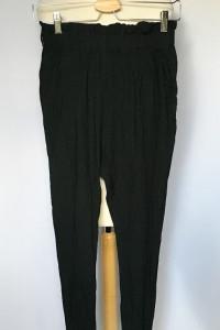 Spodnie Czarne Bik Bok S 36 Gumki Dresy Wyższy Stan...
