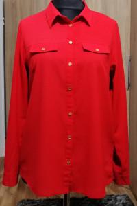 Elegancka koszula mgiełka czerwona George 42 XL