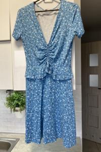 Envii Zalando sukienka letnia baby blue niebieska kwiaty Rouje