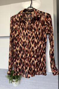 Massimo Dutti bluzka koszula zwiewna panterka wzory print leopard