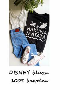 Disney bluza król lew czarna bluza z nadrukiem S M bawełna...