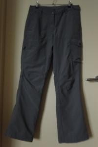 NOWE spodnie damskie ocieplane 40 nieprzemakalne khaki trekingowe