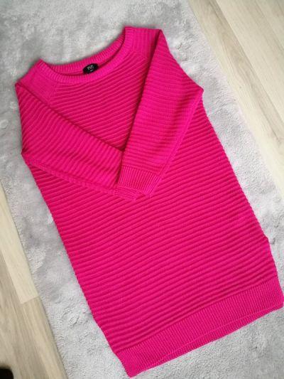 Swetry Sweter F&F róż 3 4 rękaw rozmiar S