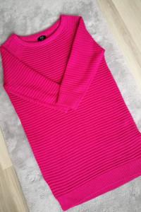 Sweter F&F róż 3 4 rękaw rozmiar S