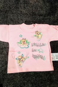 Polski NOWY różowy T shirt dla dziewczynki z krótkim rękawem r ...