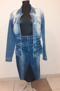 Katana jeansowa i spódnica