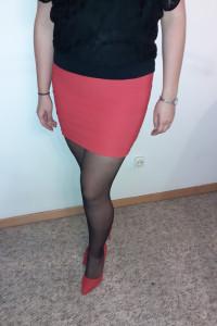 Czerwona mini TopShop...