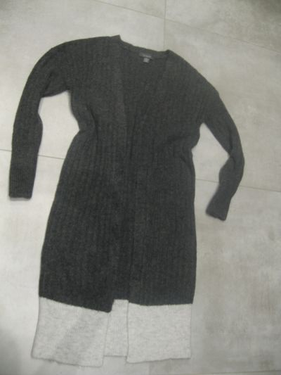Swetry sweter Primark M kardigan długi szary