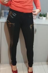 Spodnie z wstawkami skórzanymi