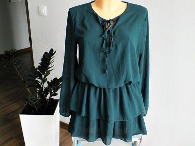 Tuniki Tunika sukienka w kolorze butelkowej zieleni r 3840