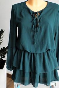 Tunika sukienka w kolorze butelkowej zieleni r 3840...